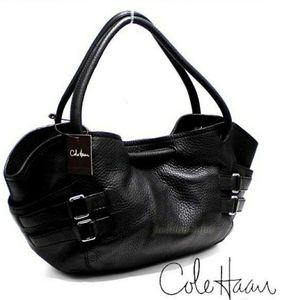NYE SALE Cole Haan Leather Bubble Bucket Bag Hobo